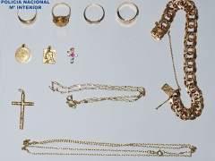 Parte de las piezas robadas y recuperadas por la policía.c2c
