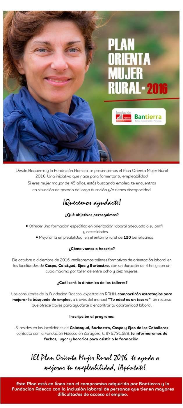 El plan orienta mujer rural de bantierra y fundaci n for Pisos bantierra