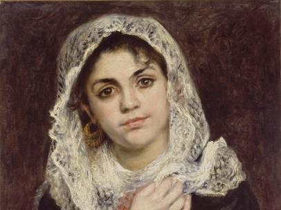 Pierre-Auguste Renoir - Lise con un chal blanco, hacia 1872