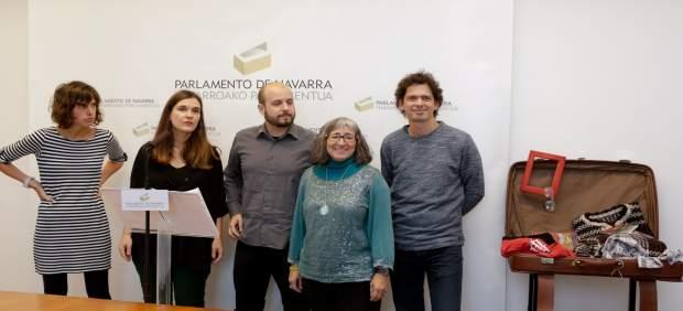 Rueda de prensa en el Parlamento de Navarra