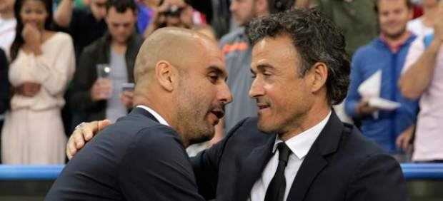 Luis Enrique y Pep Guardiola