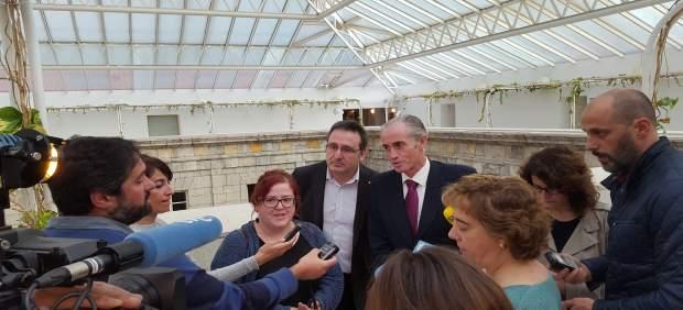 Verónica Ordóñez (Podemos), Juan Ramón Carrancio (C's) y José Manuel Igual (PP)