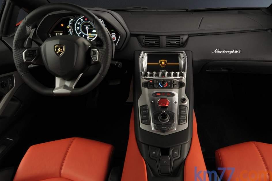 Aspecto interior del Lamborghini Aventador