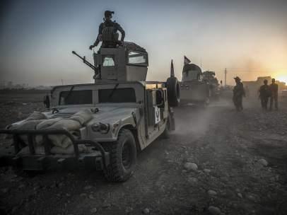 Tropas iraquíes en Mosul