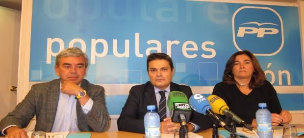 Mariano Marín, Pedro de Rueda y Sofía Castañón
