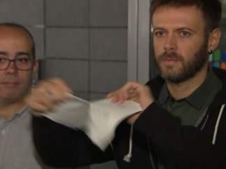 Oriol Lladó y Josep Téllez, concejales del Ayuntamiento de Badalona.