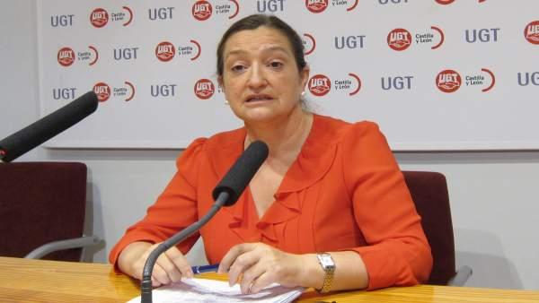 La secretaria general de FSP-UGT en CyL, Carmen Ámez