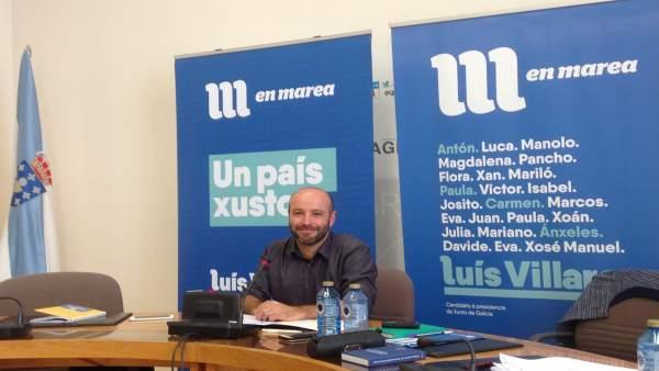 Luís Villares, portavoz del Grupo de En Marea, en rueda de prensa