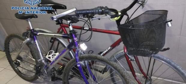 Bicicletas recuperadas por la Policía Nacional de Granada
