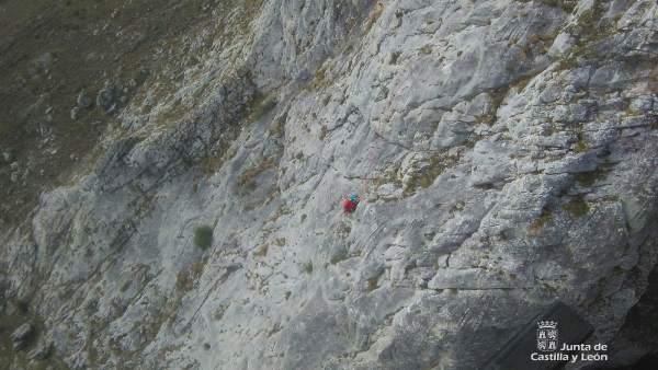 Imagen del rescate en el Pico Pincuejo