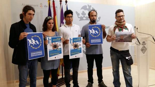 Presentación de recreación de campo de refugiados en Palma