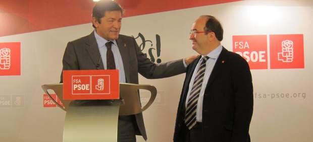 Javier Fernández y Miquel Iceta