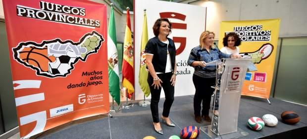 La diputada Purificación López en la presentación de los Juegos Deportivos