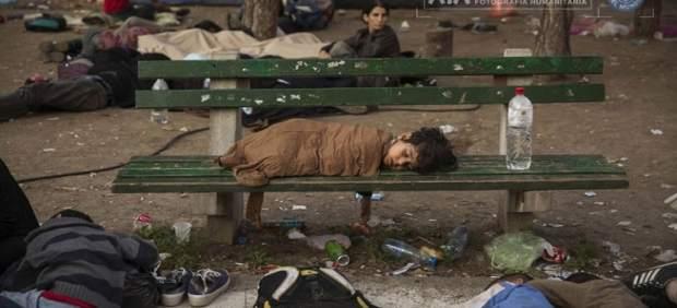 Imagen de niño refugiado