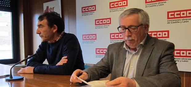 Fernández Toxo en rueda de prensa en Valladolid