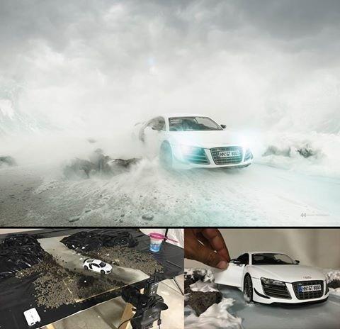 Audi habría contrato a Félix para una sesión fotográfica del Audi R8 y ahorrarse más de 100.000 euros en una sesión de fotos verdadera.