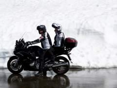 De pasajero en moto