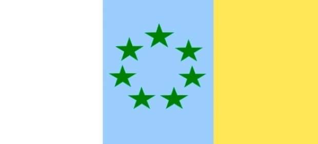 Bandera de las siete estrellas verdes