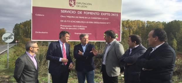 La Diputación De León Invierte 159.200 Euros En La Mejora De La Carretera Entre
