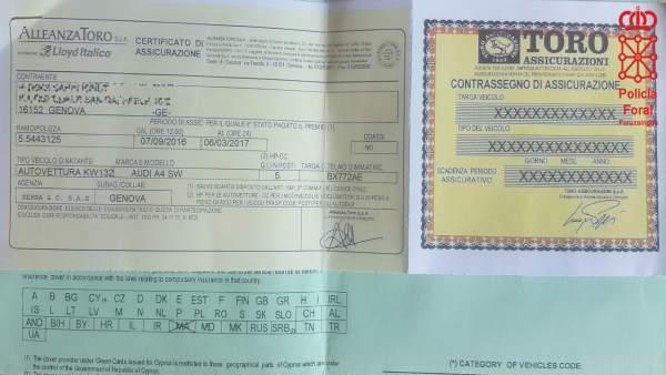 Documento falsificado.