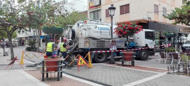 Estepona red abastecimiento suministro inundaciones operarios trabajadores
