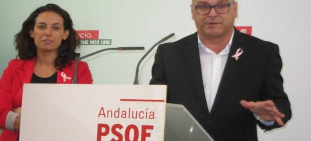 Manuel Fernández y Mercedes Gámez en la rueda de prensa