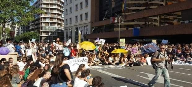 Imagen de una protesta estudiantil contra las reválidas