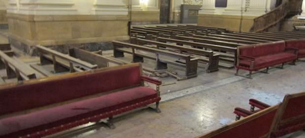 Zona de la basílica del Pilar donde ha explosionado un artefacto