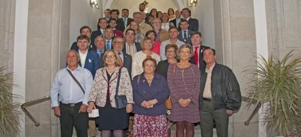 Trabajadores de la Diputación de Cáceres que han sido homenajeados