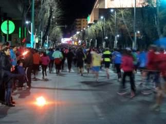 Participantes en una edición anterior de la carrera urbana de San Antón.