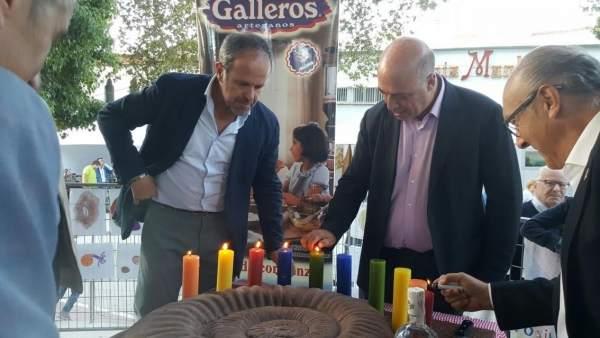 Algar (izda.) y Ruiz (centro) visitan la 'Subbética's Geopark Weekend'