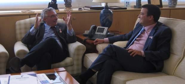 Joaquín Olona y Francisco Martínez Arroyo, en su reunión esta tarde en Zaragoza