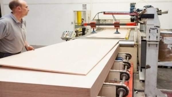 Imagen de una fábrica de Garnica Plywood