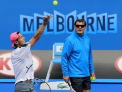 Rafa Nadal con su entrenador Toni