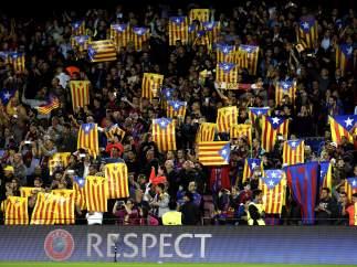 Esteladas en el Camp Nou
