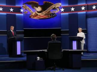 Tercer debate entre Trump y Clinton