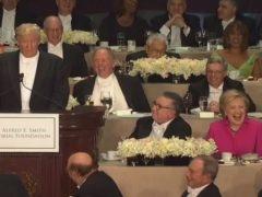 Clinton y Trump cruzan dardos con humor en una cena de caridad