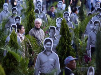Homenaje a las víctimas de Unión Patriótica
