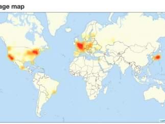 Un ciberataque masivo está dejando inaccesibles destacadas webs de internet