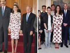 Acusan a la reina Letizia de copiar el estilismo de Kate Middleton