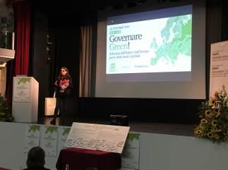 Oltra en unas jornadas del European Green Party