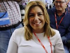 """Susana Díaz evita la palabra """"abstención"""" en su discurso"""