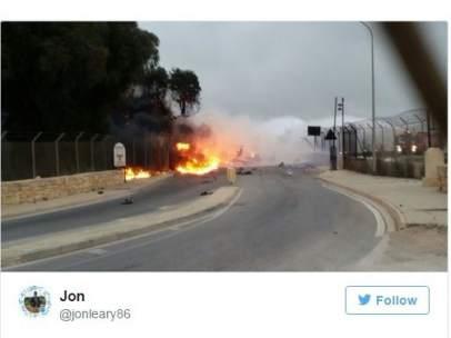 Una avioneta se estrella en Malta