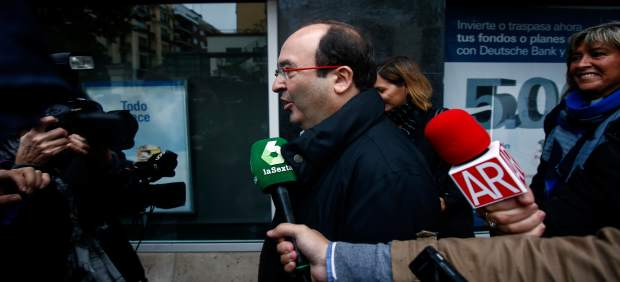Miquel Iceta a su llegada al Comité Federal del PSOE