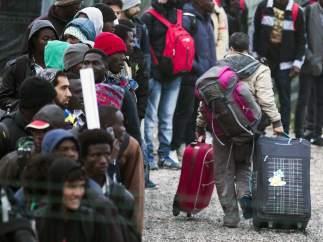 Evacuación del campo de inmigrantes de Calais