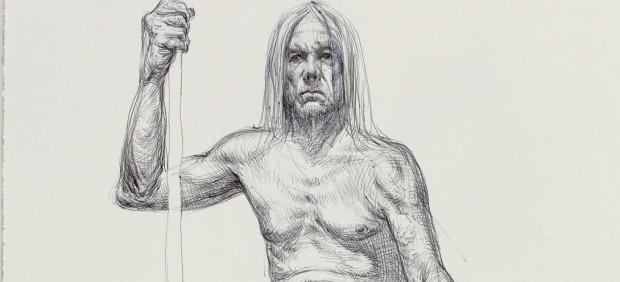 El cuerpo desnudo de Iggy Pop, salvaje y atractivo, dibujado por 22 artistas para los que posó