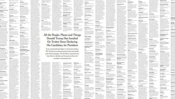 Insultos de Trump