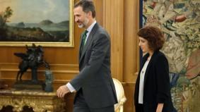 Alexandra Fernández (En Marea) con Felipe VI