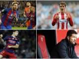 Leo Messi Antoine Griezmann Luis Suárez Simeone Premios LaLiga.