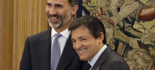 Javier Fernández, con Felipe VI